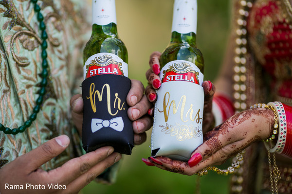 Indian couple personalized coolers