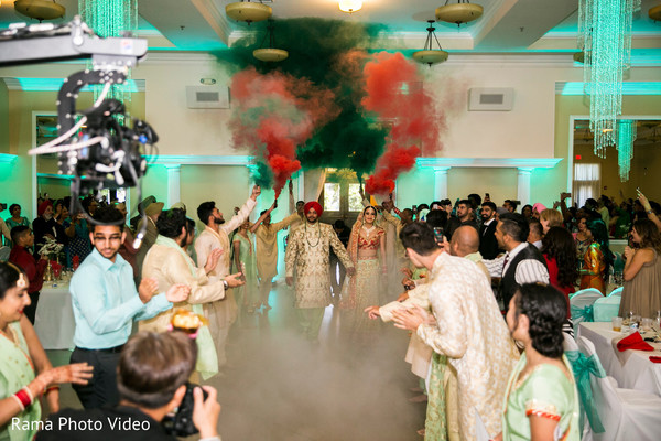 Indian couple making their grand entrance