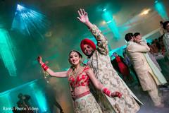 Indian couple celebrating