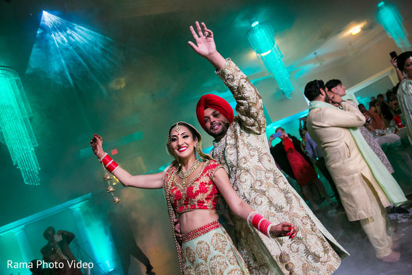 Indian couple celebrating