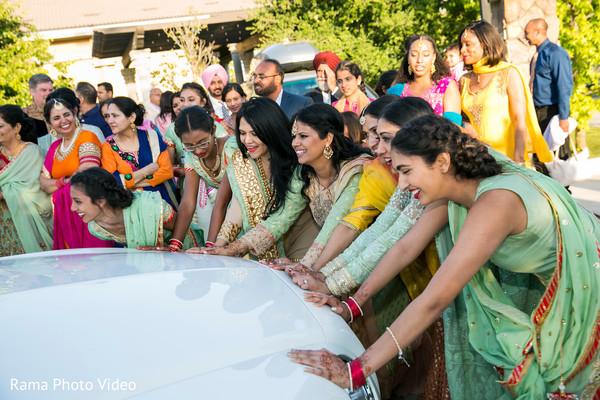 Traditional indian wedding farewell
