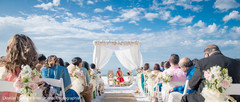 Overview of the Indian wedding mandap