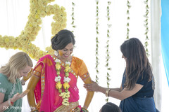 Dazzling bride getting ready for Haldi ceremony
