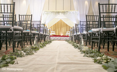 Indian wedding ceremony aisle decoration.