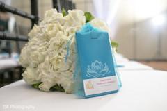 Marvelous Indian bridal bouquet and favor capture.