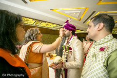 Indian groom at his baraat ritual.