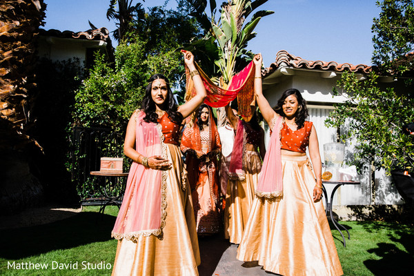 See this gorgeous bridesmaids entering the ceremony