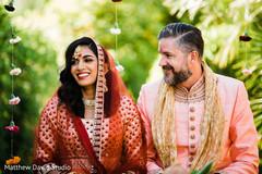 Beautiful portrait of Indian couple