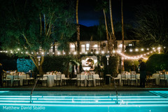 Amazing lightning decor for the reception