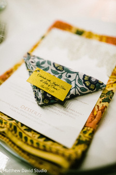 Close up capture of the invitations