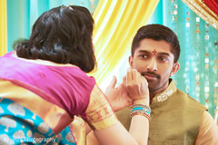 Indian groom during pre wedding celebrations