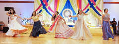 Maharani dancing with bridesmaids