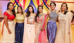 Beautiful maharani with bridesmaids
