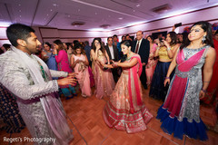 Joyful indian couple dancing