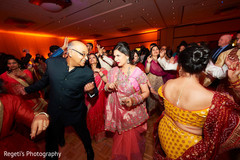 Lovely sangeet guests dancing