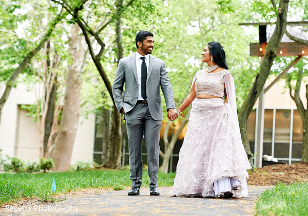 Indian couple's sweet moment.