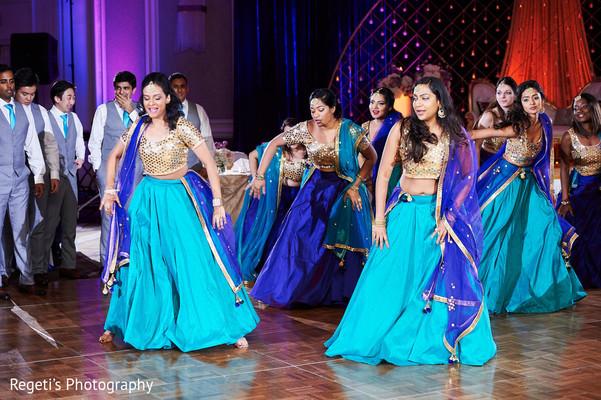 Indian bridesmaids and groomsmen choreography.