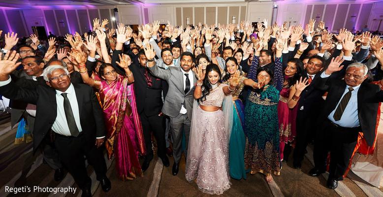Marvelous Indian wedding reception photo.