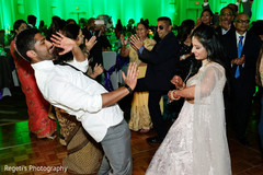 Lovely Indian couple enjoying their dance capture.