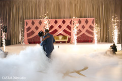 Incredible Indian couple at their wedding reception dance.