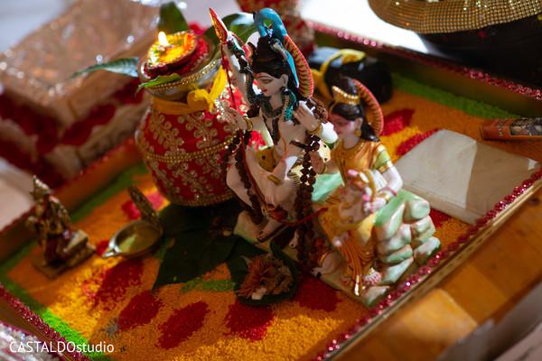 Wonderful Indian wedding god's accessories capture.