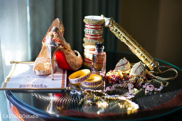 Maharani's wedding ceremony accessories.