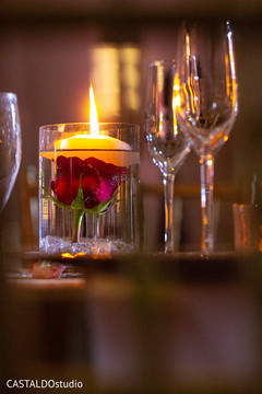 Incredible Indian wedding candle and flower decor.