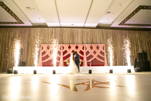 Dreamy Indian couple's reception photography.