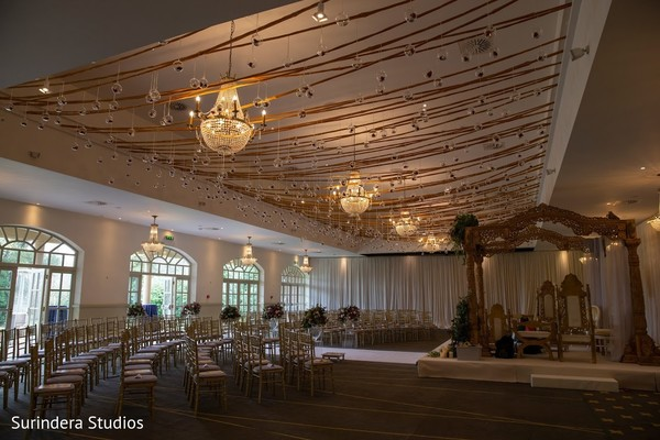 Stunning Indian wedding ceremony decoration.