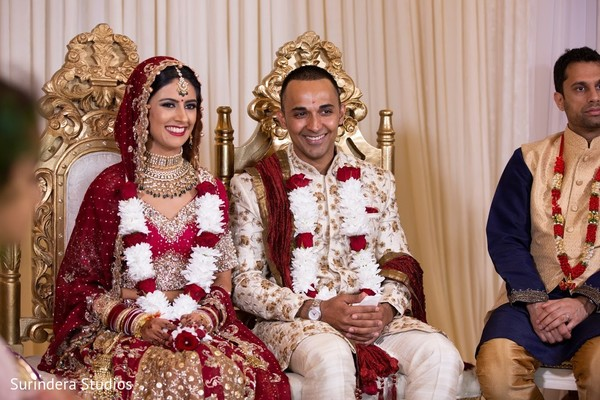 Indian couple at their wedding ceremony capture.