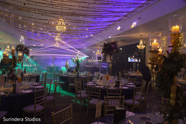 Dreamy indian wedding reception decor.