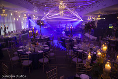 Light projection for Indian wedding reception.