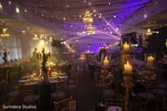Fabulous indian wedding reception decor.