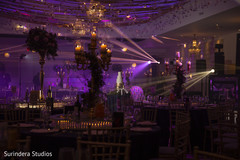 Over the top indian wedding reception decor.