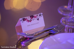 Personalized indian wedding seating card capture.