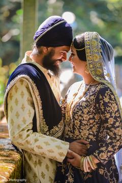 Incredible shot of Indian newlyweds