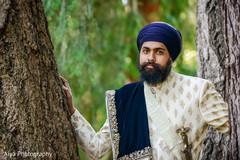 Indian groom's portrait