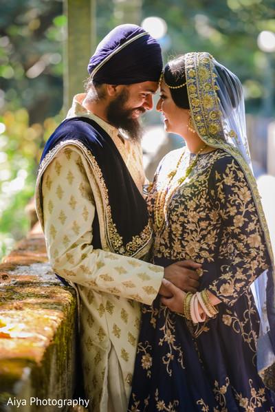 Maharani and Raja having a romantic moment