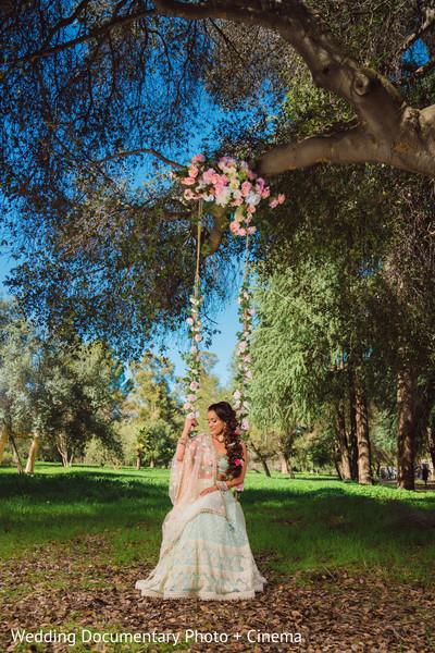 Enchanting indian bride outdoor photoshoot