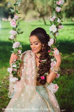 Lovely indian bride hair look