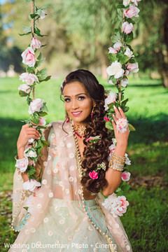 Beautiful indian bride hairstyle