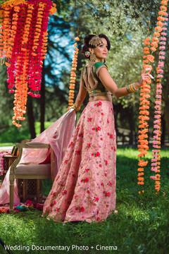Elegant indian bride posing