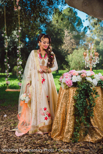 Glamorous indian bride outfit