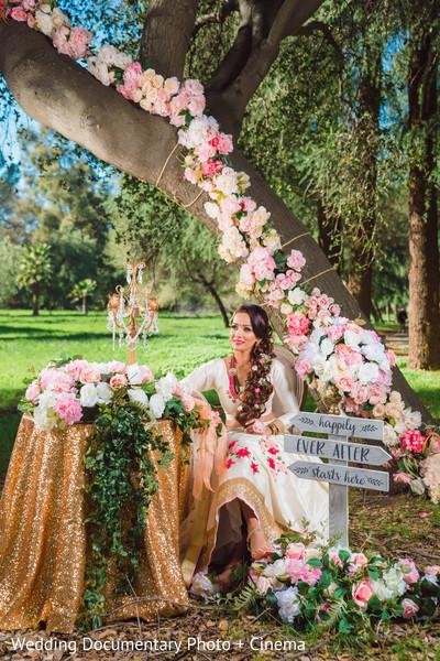 Indian bride in white wedding lengha