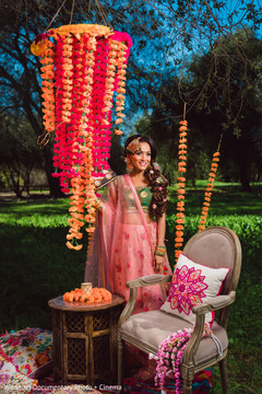Dazzling indian bride's photo session