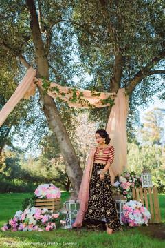 Radiant indian bride photoshoot