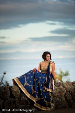 Indian bride posing outdoors