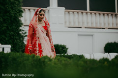 Indian bride outdoors