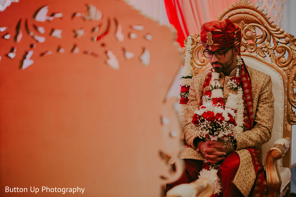 Indian groom waiting for the Maharani