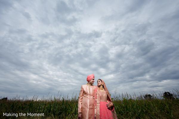 Enchanting capture of Indian newlyweds
